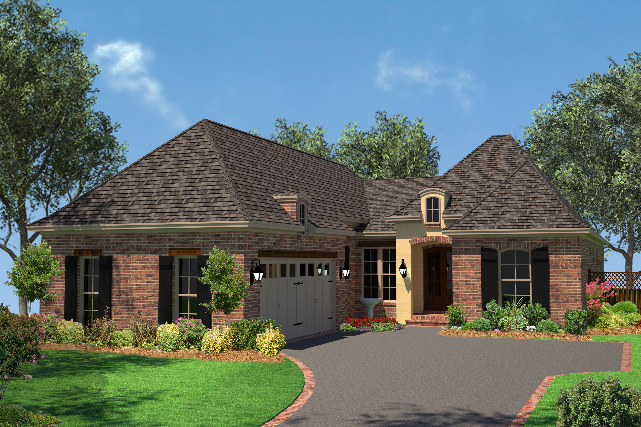 Small house plan home plan 142 -  142 1077 Front Elevation Of This French House 142 1077 At The Plan Collection