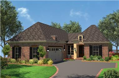 3-Bedroom, 1792 Sq Ft French Home Plan - 142-1077 - Main Exterior