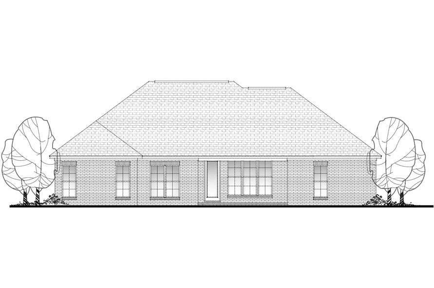 Home Plan Rear Elevation of this 4-Bedroom,1798 Sq Ft Plan -142-1078