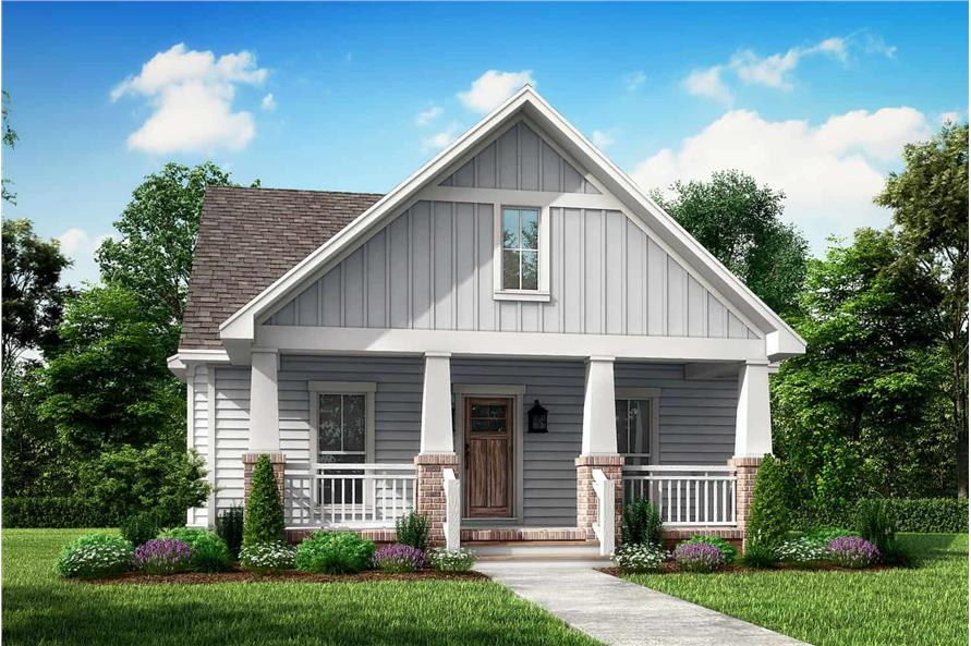 Front View of this 3-Bedroom,1800 Sq Ft Plan -142-1079
