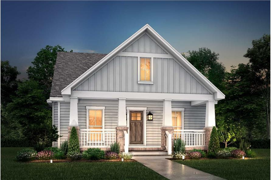 Home at Night of this 3-Bedroom,1800 Sq Ft Plan -142-1079