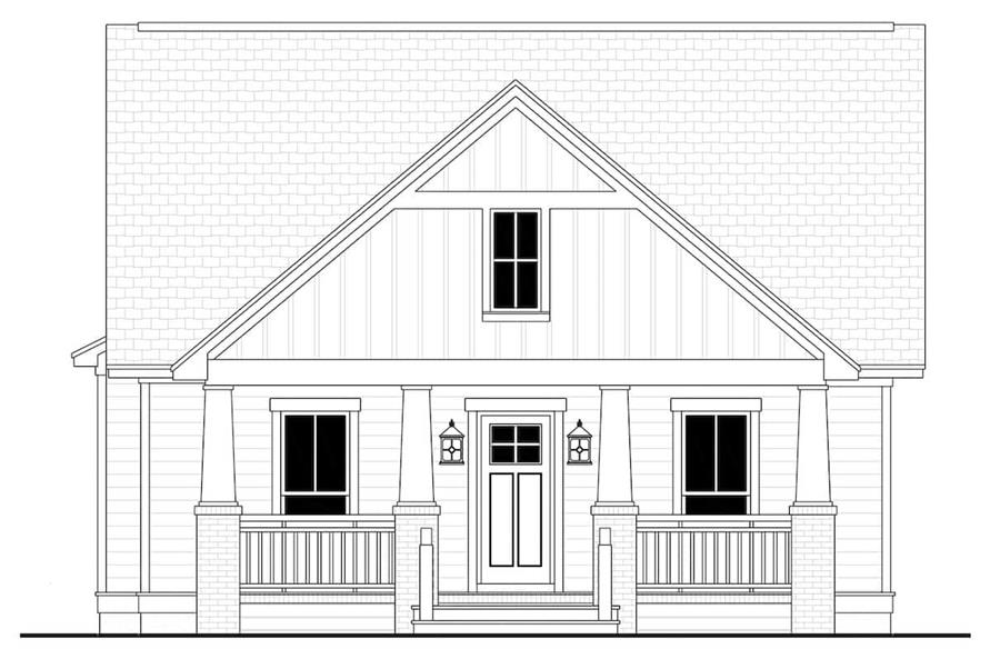 Home Plan Front Elevation of this 3-Bedroom,1800 Sq Ft Plan -142-1079