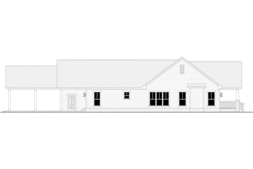 Home Plan Left Elevation of this 3-Bedroom,1800 Sq Ft Plan -142-1079