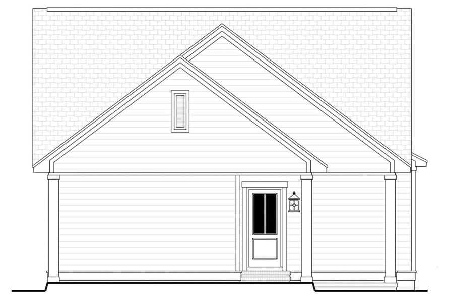 Home Plan Rear Elevation of this 3-Bedroom,1800 Sq Ft Plan -142-1079