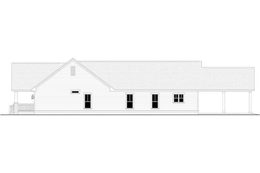 Home Plan Right Elevation of this 3-Bedroom,1800 Sq Ft Plan -142-1079