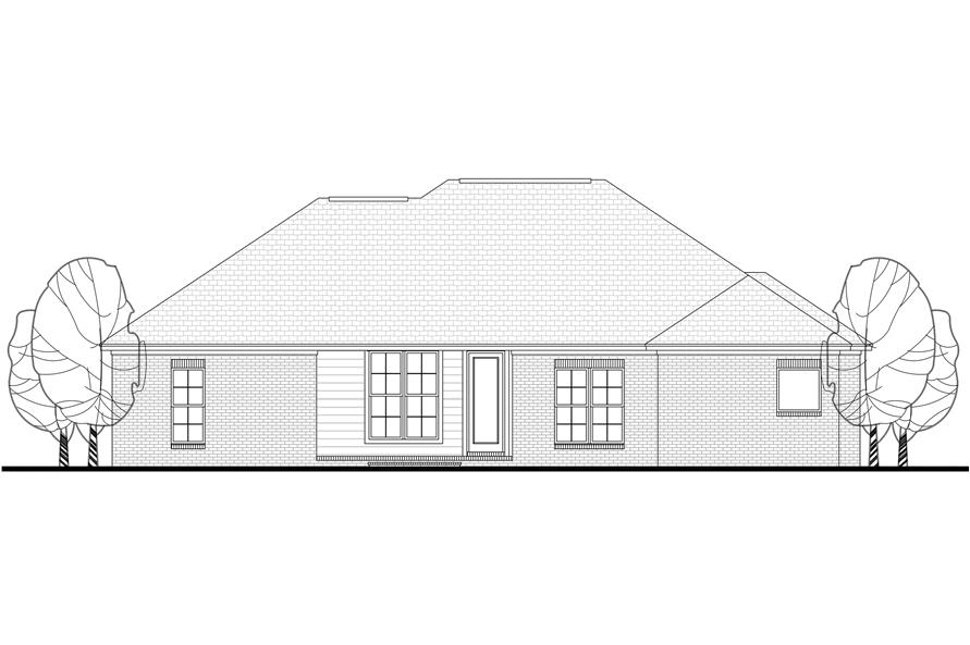 142-1081: Home Plan Rear Elevation