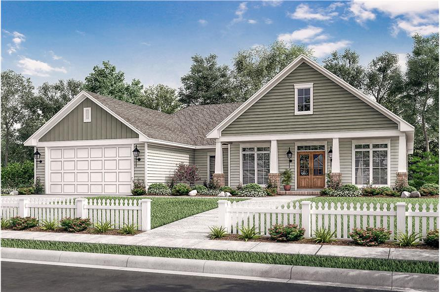 Front View of this 3-Bedroom,1834 Sq Ft Plan -142-1082