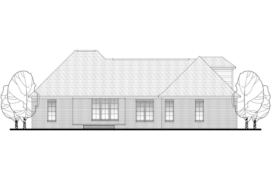 142-1083: Home Plan Rear Elevation