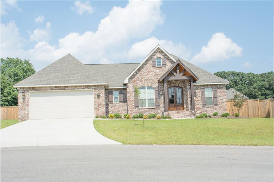 Acadian Home Plan 3 Bedrms 2 Baths 1842 Sq Ft 142 1083