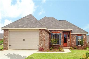 3-Bedroom, 1849 Sq Ft Ranch House Plan - 142-1084 - Front Exterior
