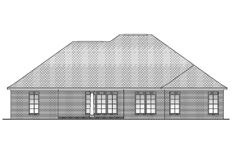 Home Plan Rear Elevation of this 4-Bedroom,1850 Sq Ft Plan -142-1085