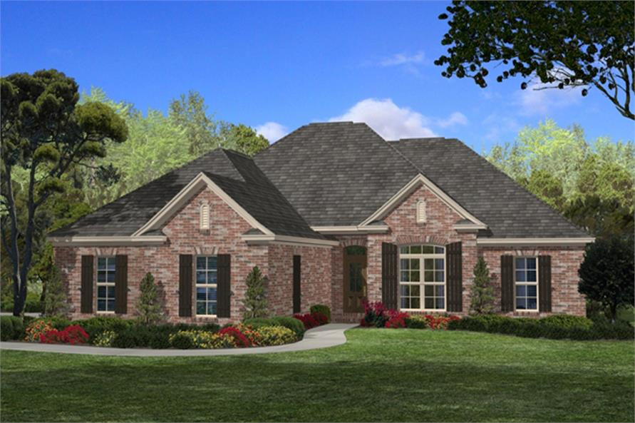 4-Bedroom, 1850 Sq Ft Acadian House Plan - 142-1085 - Front Exterior