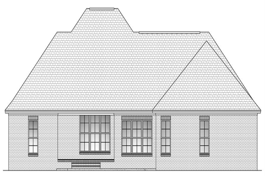 142-1088: Home Plan Rear Elevation