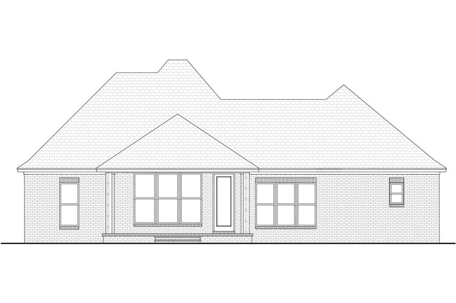142-1089: Home Plan Rear Elevation