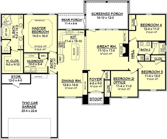 3000 sq ft open floor plans thefloors co for Apartment floor plans 3000 sq ft