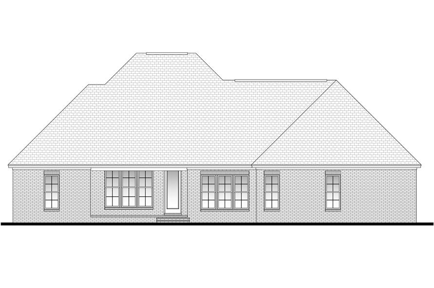 Home Plan Rear Elevation of this 3-Bedroom,2091 Sq Ft Plan -142-1094