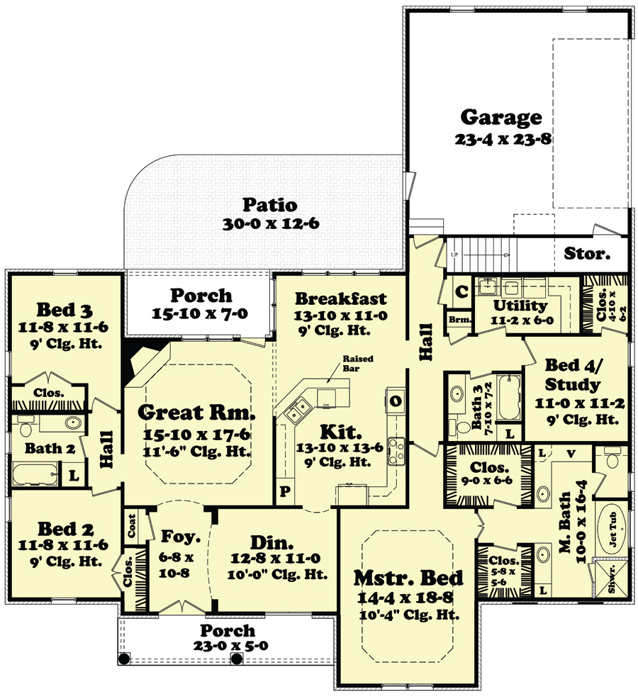 House plan 142 1098 4 bdrm 2 400 sq ft european home for Cost to build a 576 sq ft house