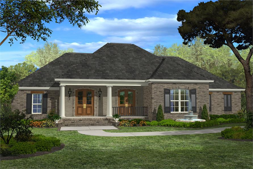 4-Bedroom, 2400 Sq Ft European Home Plan - 142-1098 - Main Exterior