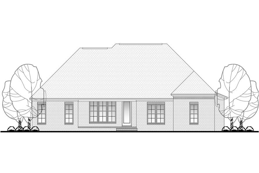 142-1099: Home Plan Rear Elevation