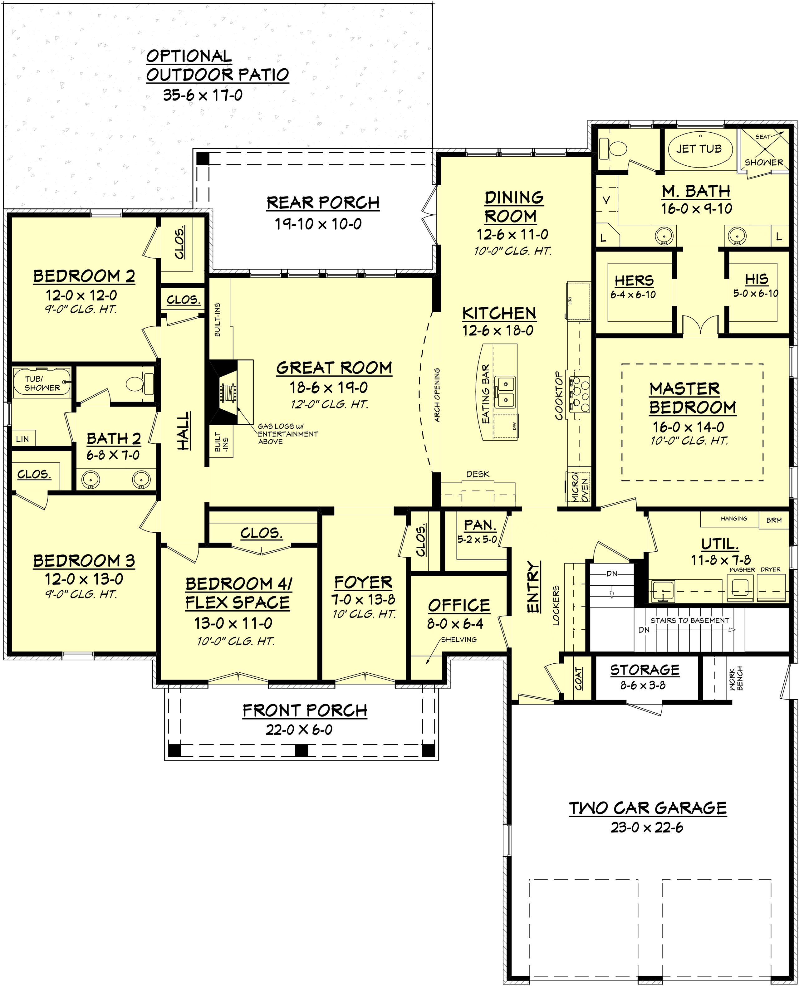 House plan 142 1100 4 bdrm 2 480 sq ft european home for 1100 sq ft home plans