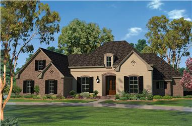 4-Bedroom, 2506 Sq Ft Country House Plan - 142-1101 - Front Exterior
