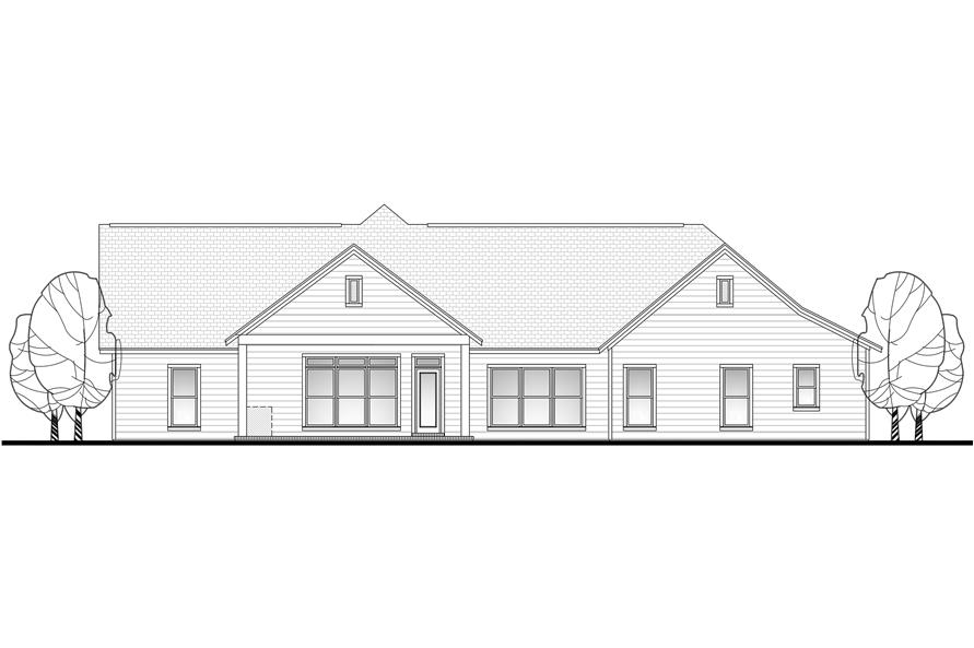 142-1102: Home Plan Rear Elevation