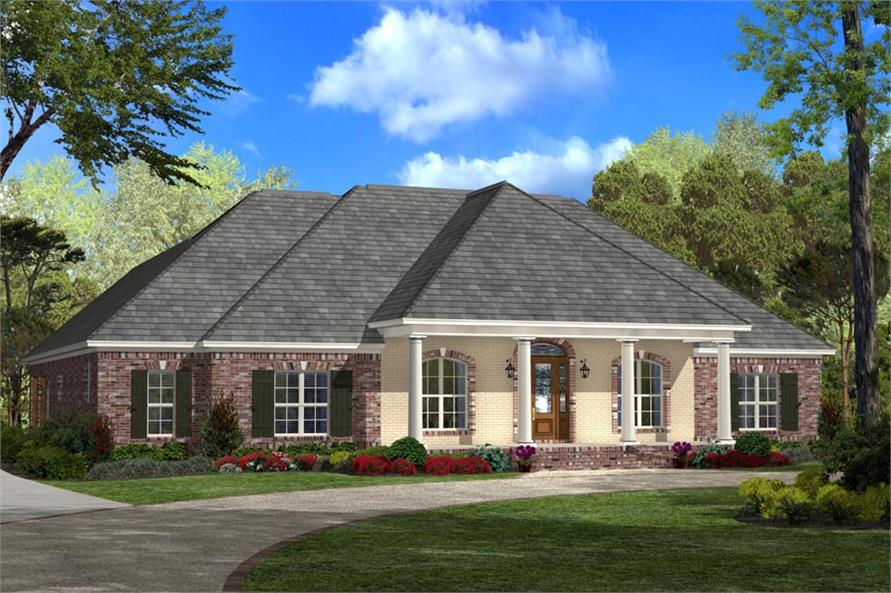 House Plan Small Home Design: House Plan #142-1103: 4 Bdrm, 2,900 Sq Ft French Home