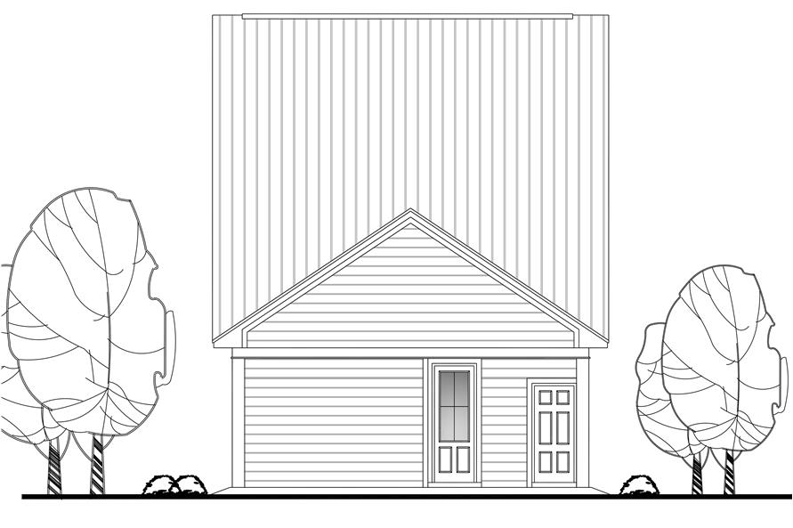 142-1122: Home Plan Rear Elevation