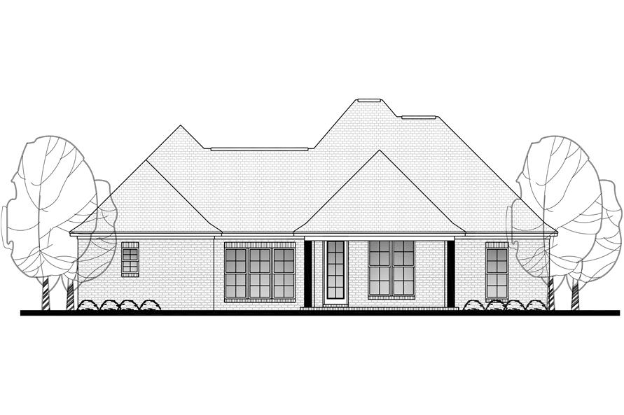 142-1124: Home Plan Rear Elevation