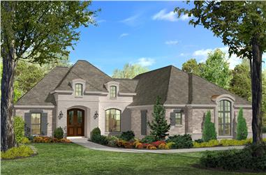 3-Bedroom, 1937 Sq Ft Acadian Home Plan - 142-1124 - Main Exterior