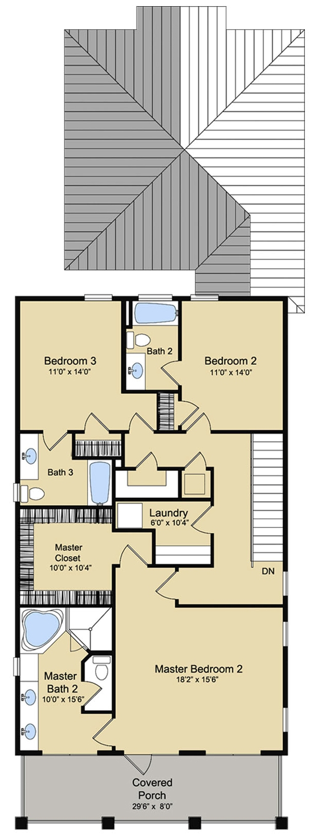 Coastal house plan 142 1125 4 bedrm 2888 sq ft home for 1125 sq ft floor plan