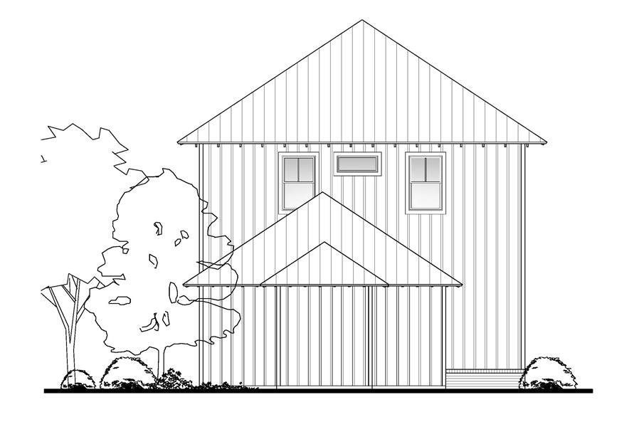 142-1125: Home Plan Rear Elevation