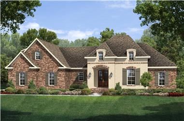 3-Bedroom, 1953 Sq Ft Country House Plan - 142-1126 - Front Exterior
