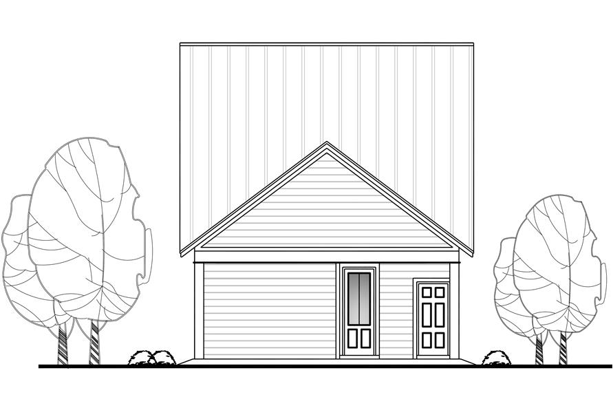 Home Plan Rear Elevation of this 4-Bedroom,2184 Sq Ft Plan -142-1128