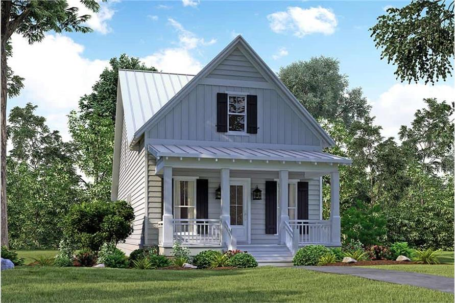 Front View of this 4-Bedroom,2184 Sq Ft Plan -142-1128