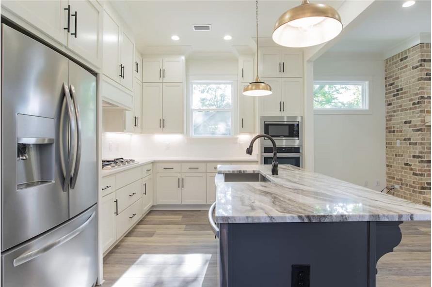 Kitchen: Kitchen Island of this 4-Bedroom,2184 Sq Ft Plan -142-1128