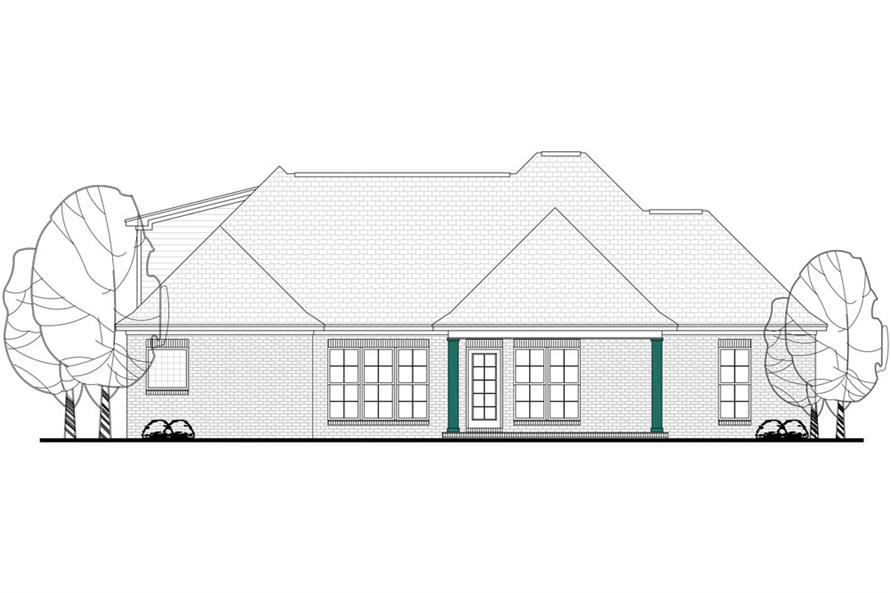 142-1130: Home Plan Rear Elevation