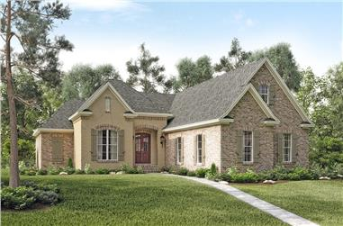 3-Bedroom, 1892 Sq Ft Acadian House Plan - 142-1130 - Front Exterior