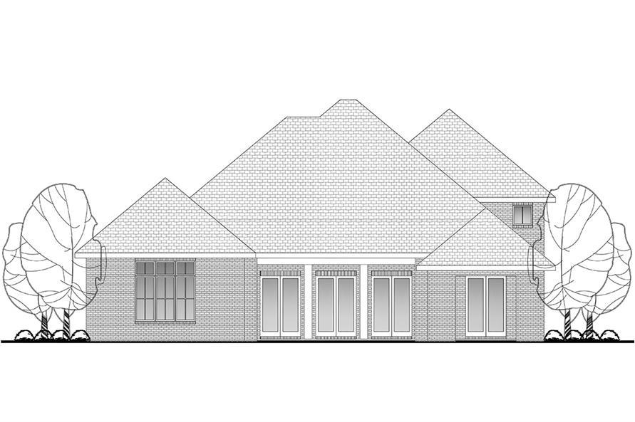 142-1132: Home Plan Rear Elevation