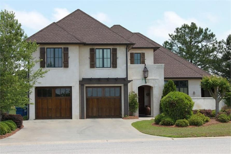 4-Bedroom, 3784 Sq Ft Country Home Plan - 142-1132 - Main Exterior