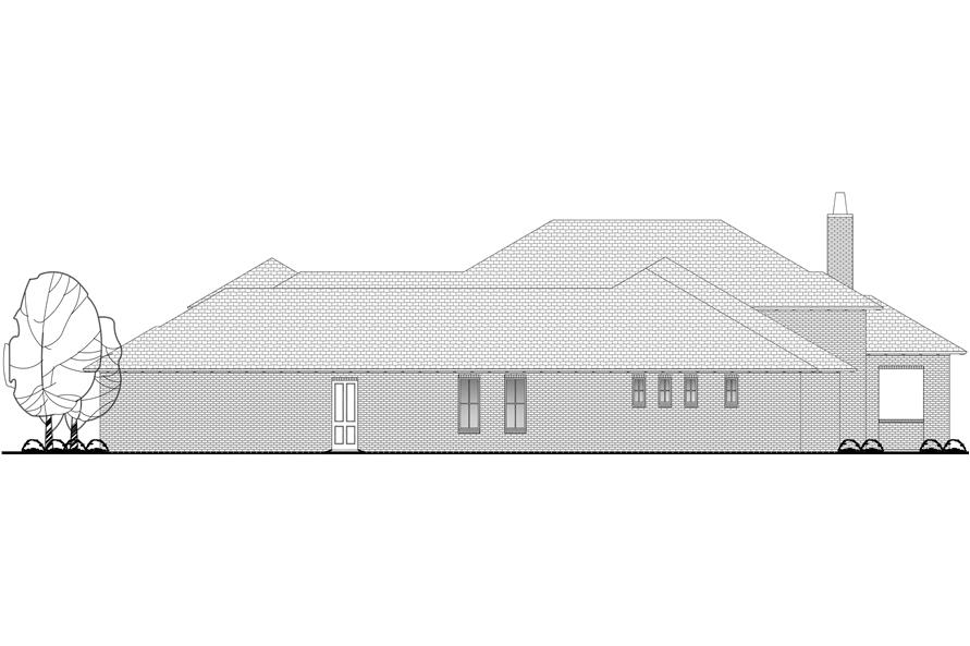 142-1133: Home Plan Rear Elevation