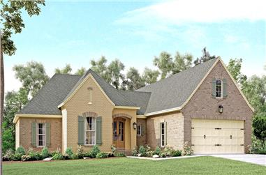 Front elevation of Country home (ThePlanCollection: House Plan #142-1136)