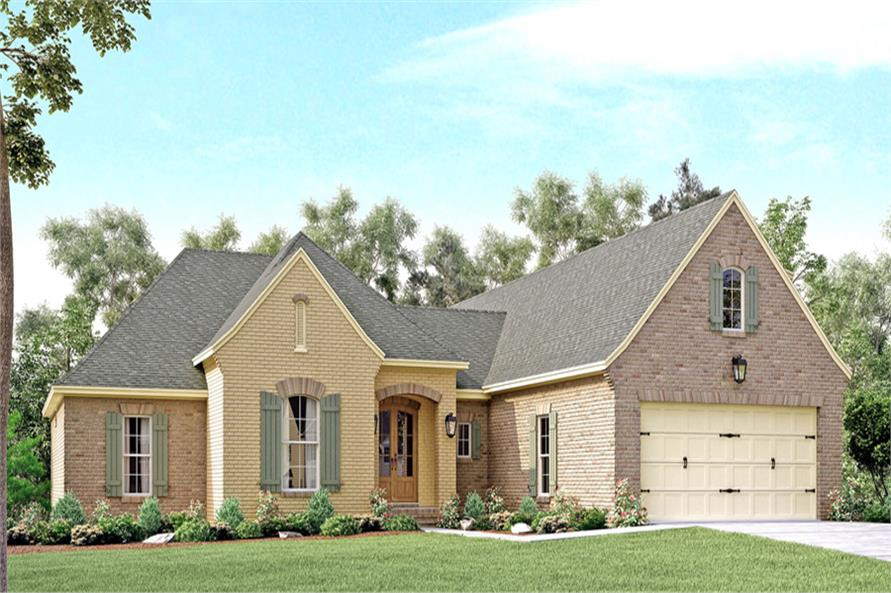4-Bedroom, 2180 Sq Ft Country House Plan - 142-1136 - Front Exterior