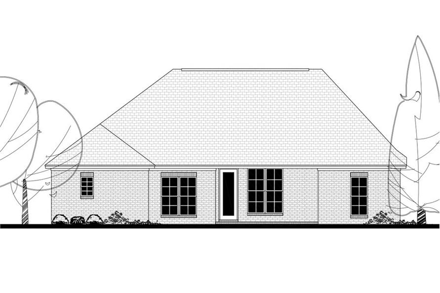 142-1137: Home Plan Rear Elevation