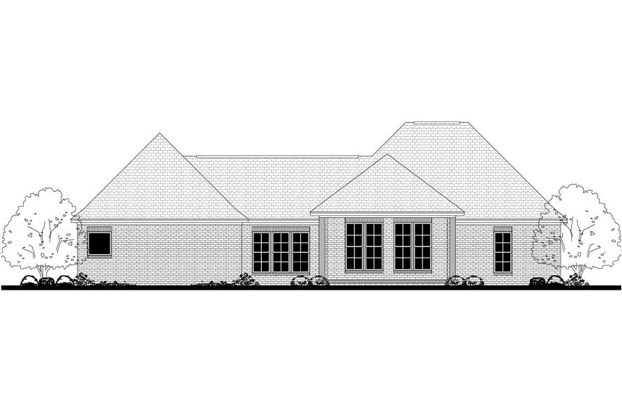 142-1138: Home Plan Rear Elevation