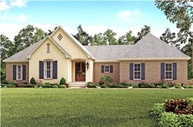 4-Bedroom, 2141 Sq Ft Country Home Plan - 142-1138 - Main Exterior