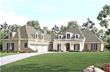 European home plan (ThePlanCollection: House Plan #142-1140)