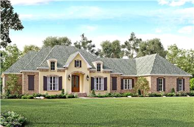 4-Bedroom, 3527 Sq Ft European House Plan - 142-1141 - Front Exterior