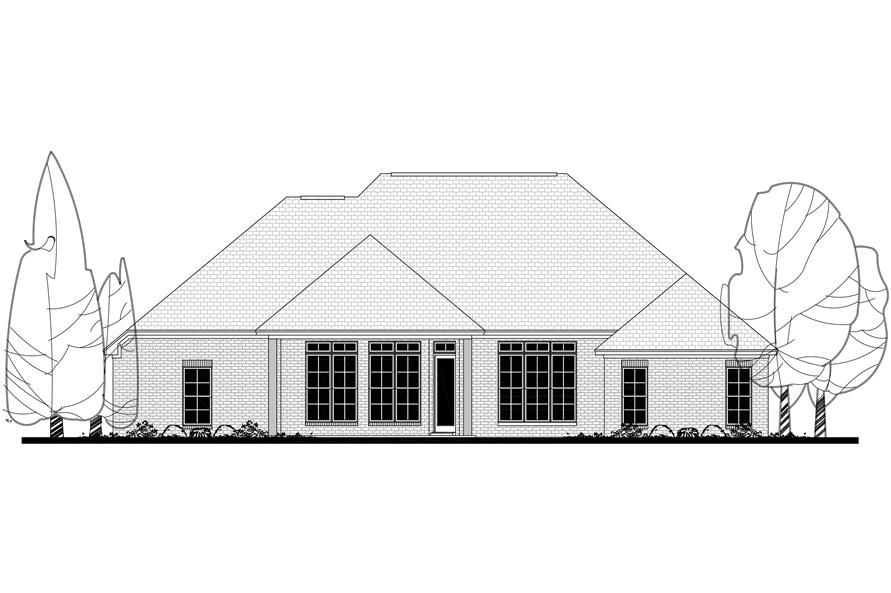 142-1142: Home Plan Rear Elevation