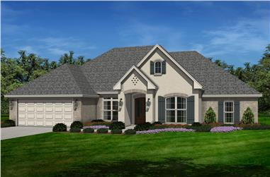 4-Bedroom, 2380 Sq Ft French Home Plan - 142-1142 - Main Exterior